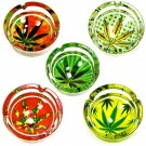 Glass Ashtrays in 6 Weed Designs thumbnail