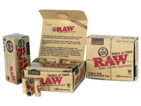 RAW MASTERPIECE ROLL KING SIZE 3MM + 30 PRE-ROLLED FILTER TIPS
