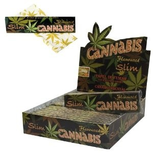 Cannabis Hemp Kingsize Slims Flavoured Rolling Papers
