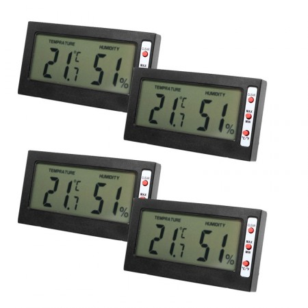 Digital Temperature Humidity Meter LCD Display