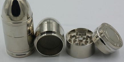 3 Layers Bullet Shape Metal Herbal Tobacco Grinder Crusher Muller