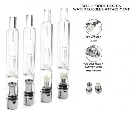 Glass Water Bubbler Dab Shatter Vaporizer Pen