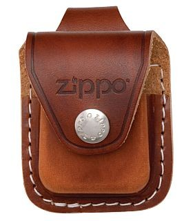 LPLB LIGHTER POUCH WITH LOOP BROWN ZIPPO LIGHTER