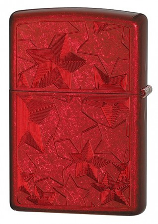 28339--CANDY APPLE RED ICED ZIPPO LIGHTER