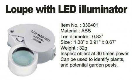 loupe with led illuminator