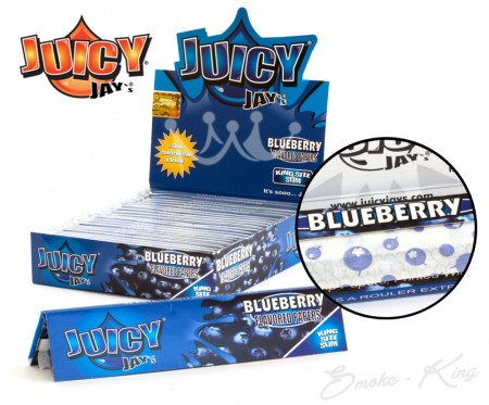 Juicy Jays Blueberry Flavour Kingsize Slim Rolling Papers