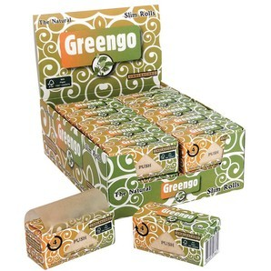 GREENGO Unbleached Slim Smoking Rolls - 44mm Wide