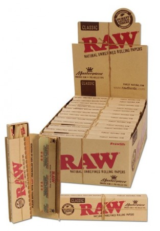 RAW Masterpiece Papers KS Slim+Tips pre-rolled